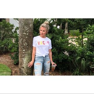 """Pink Lily Boutique """"VACAY"""" t-shirt"""